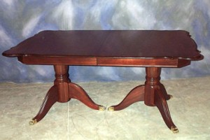Double Pedestal Table