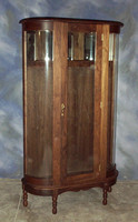 "Curved Glass Cabinet 34"" x 17"" x 82"" high $ 2495.00"