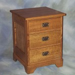Mission Three Drawer Night Stand