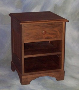 One Drawer Night Stand with Shelf