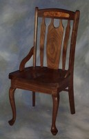 Queen Anne Lumbar Chair with Burl