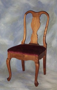 Queen Anne Dinning Chair with Carving