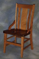 Cherry Lumbar Chair with Walnut Scooped Seat
