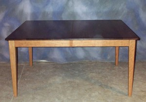 Rectangle Table with Cherry Base and Walnut Top