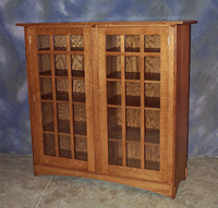 "Oak Mission Bookcase <br>14"" x 59"" x 58"" high <br>$ 3,120.00"