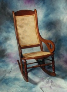 Adult Cane Seat, Cane Back Rocker