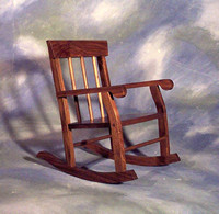 "Simple Child's Rocker <br>15"" x 22"" x 22"" high <br>$ 225.00"