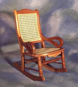 Child's Cane Seat, Cane Back Rocker