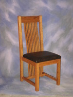 "Mission Chair <br>18"" wide x 22"" deep x 42"" high <br>$ 625.00"