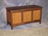 "Panel Hope Chest <br>18"" x 42"" x 22"" high <br>$ 875.00"