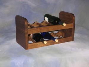 "2 Section Wine Rack 9"" x 19"" x 10"" high $ 130.00"