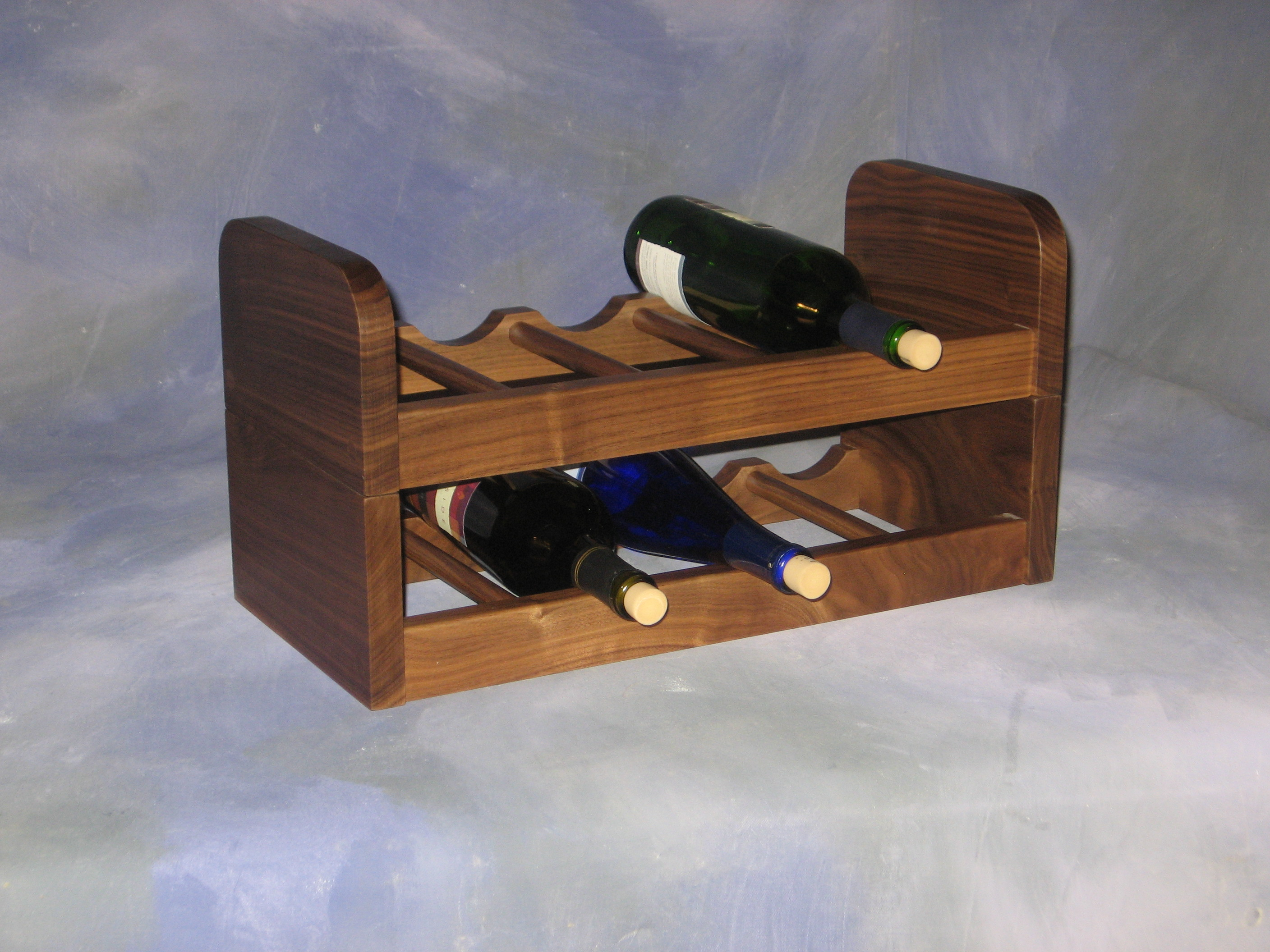 "2 Section Wine Rack <br>9"" x 19"" x 10"" high <br>$ 130.00"