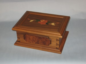 "Rose Jewelry Box 11"" x 14"" x 6.25"" high $ 345.00"