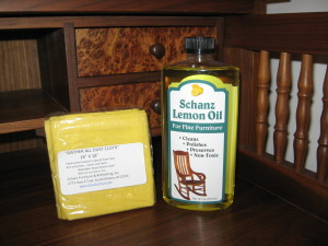 "Schanz Lemon Oil & ""Gather All Dust Cloth""  Lemon Oil & Cloth $11.00 BUY NOW for bulk purchases please contact us for best shipping rate"